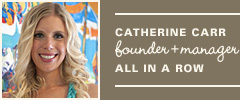 Catherine Carr, Founder + Manager, all in a row